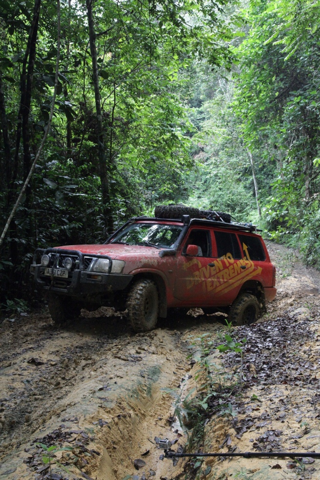 The Ulu Sedili trail was very challenging with deep ruts