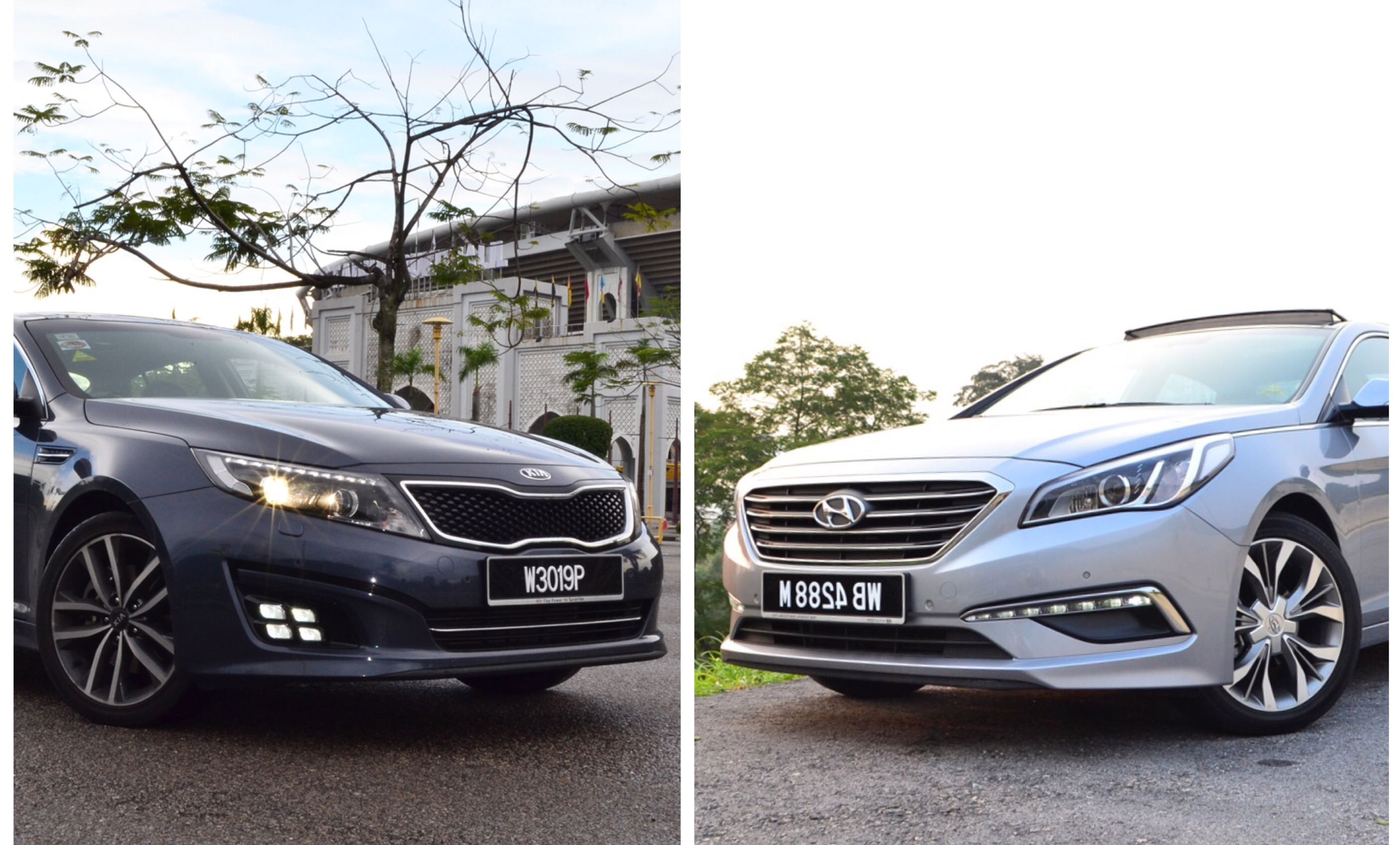 The new Kia Optima K5 vs the new Hyundai Sonata – Casual or Formal