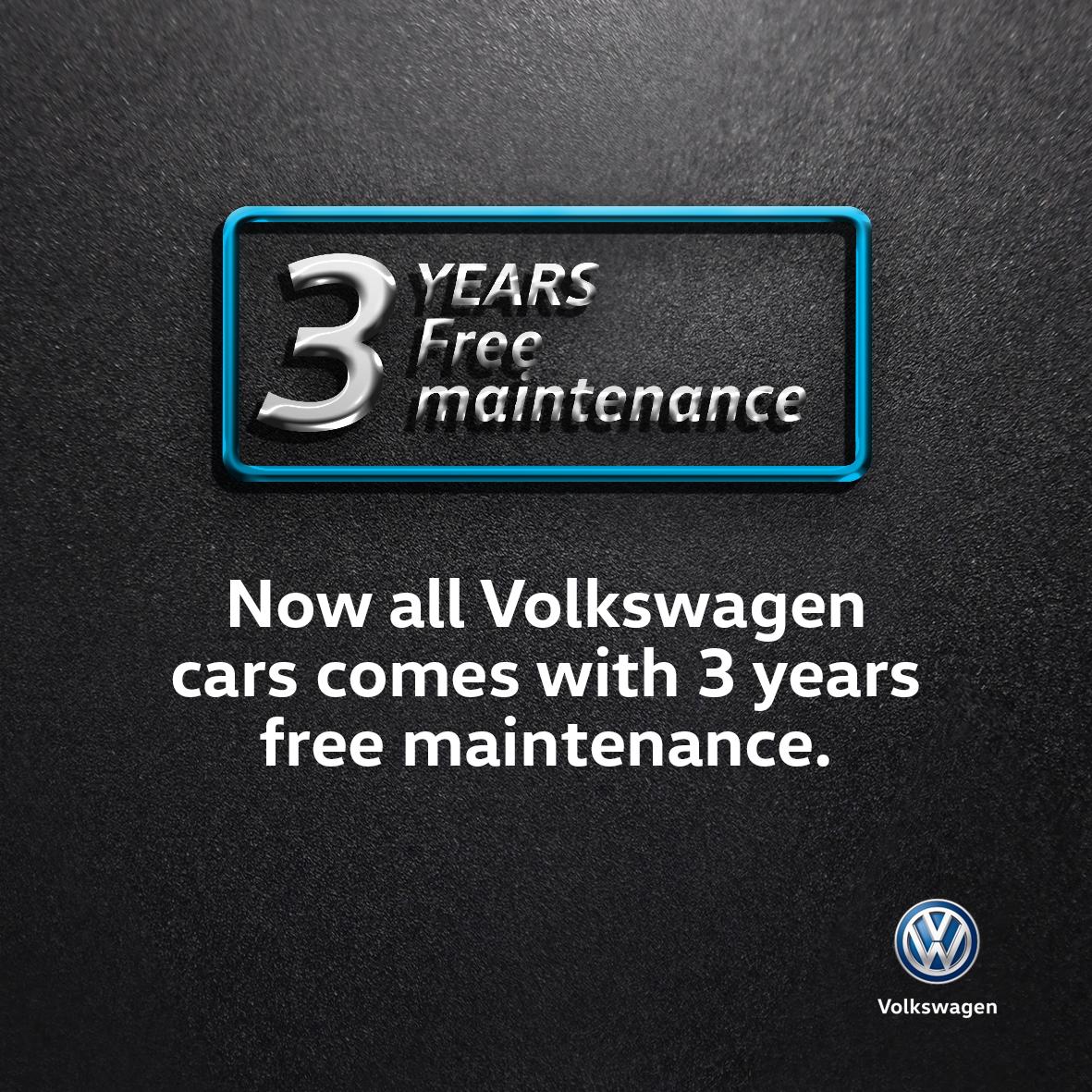 Volkswagen Introduces Three-Year Free Maintenance